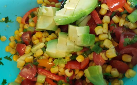 Sweetcorn Salsa Salad Recipe