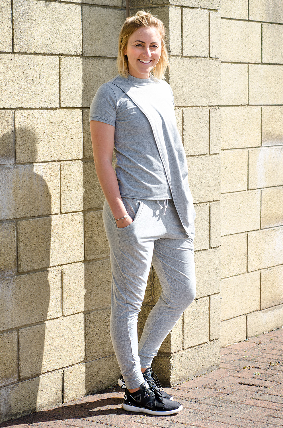 Grey Marl Joggers: Large