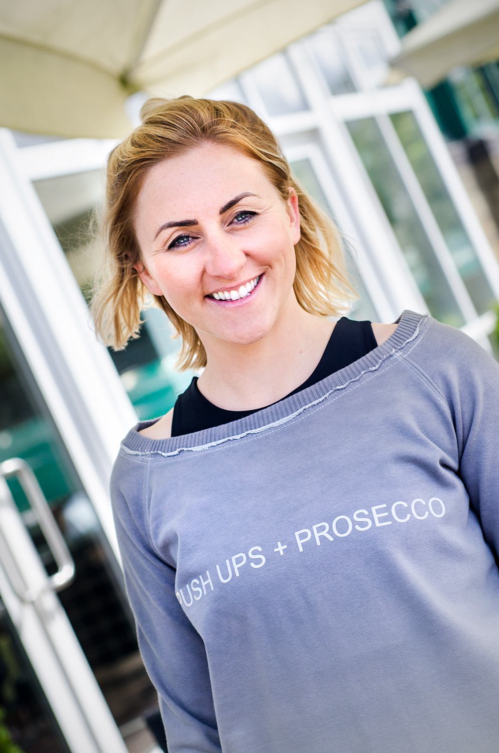 'PUSH UPS + PROSECCO' Sweatshirt: Medium
