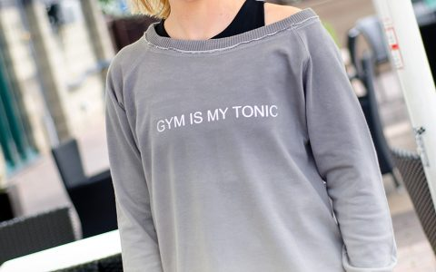 'Gym Is My Tonic' Sweatshirt: Large