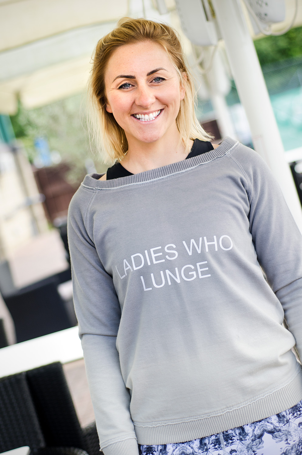 'LADIES WHO LUNGE' Sweatshirt: Extra Large
