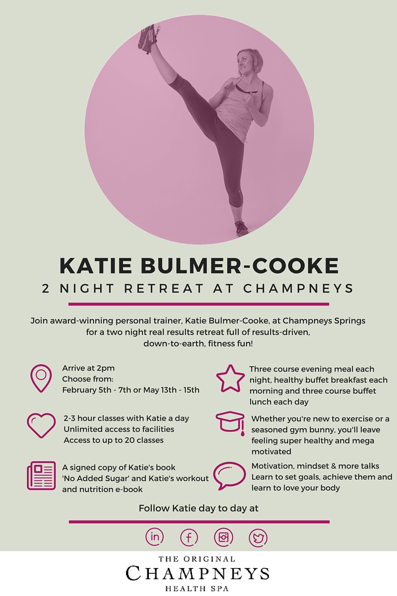 KATIE BULMER-COOKE FITNESS RETREAT AT CHAMPNEYS