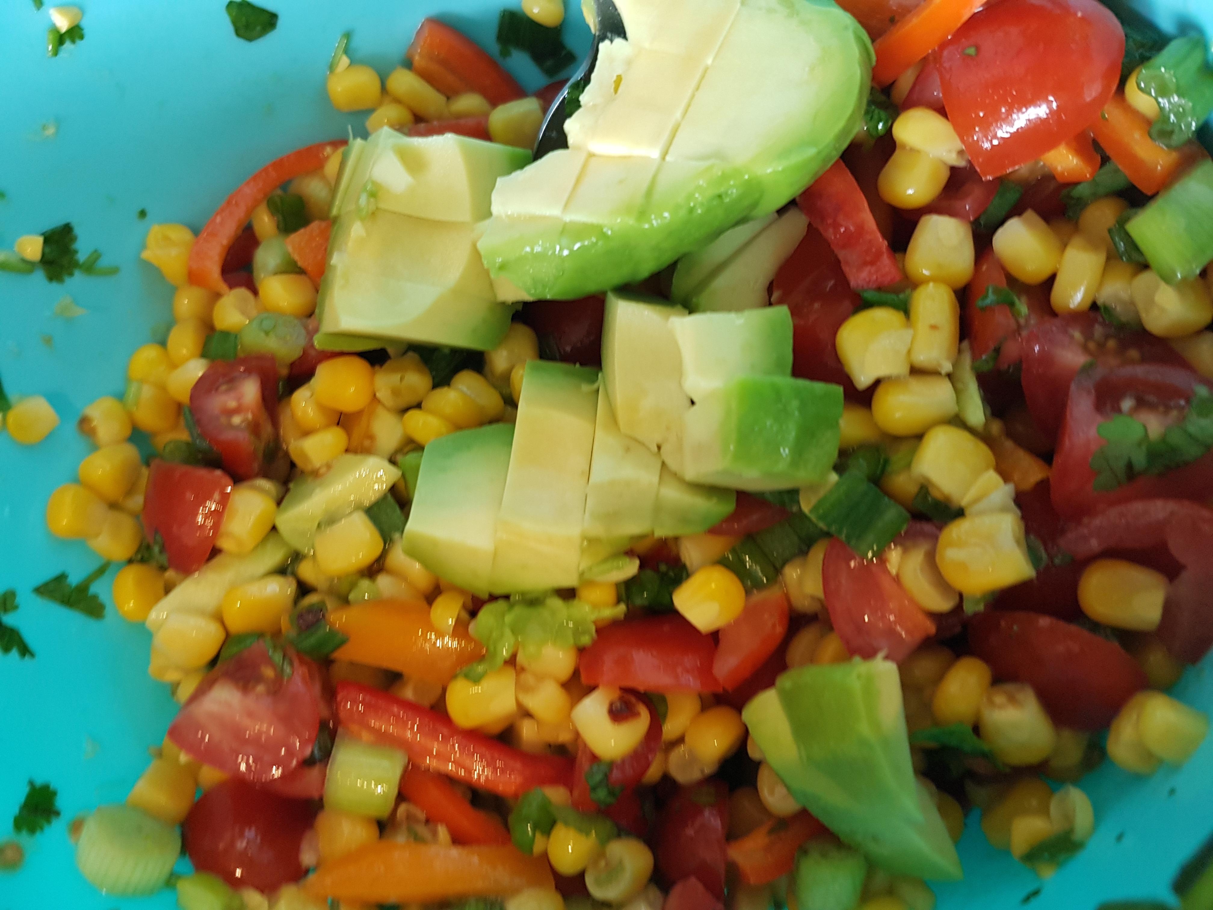 Sweetcorn Salsa Salad Recipe