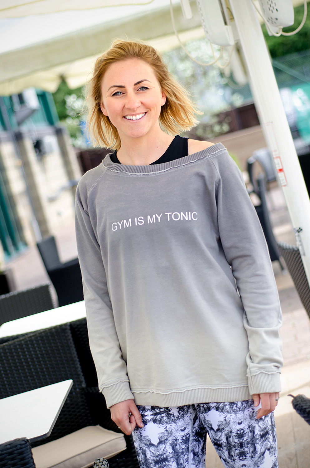 'Gym Is My Tonic' Sweatshirt: Small